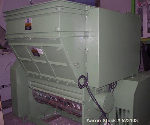 "USED: Shredder, Warema EWZ 1200 single shaft shredder. Rotor 47.2"" (1200mm). Screen is pivoted up hydraulically. Chamber siz..."