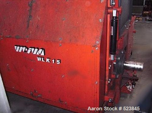 "USED: Weima shredder, type WLK 15/90. 43 (82) knives, feeding chamber 59"" x 59"" (1500 x 1500mm), rotor diameter 15.2"" (386mm..."