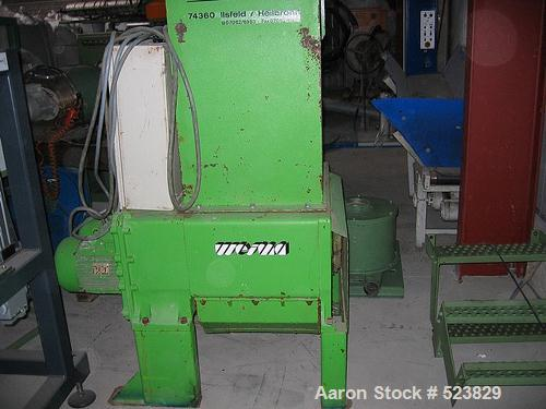 USED: Weima shredder, type ZMM 80. Driven by 2 x 7.5 kW motors. Last used on HDPE.
