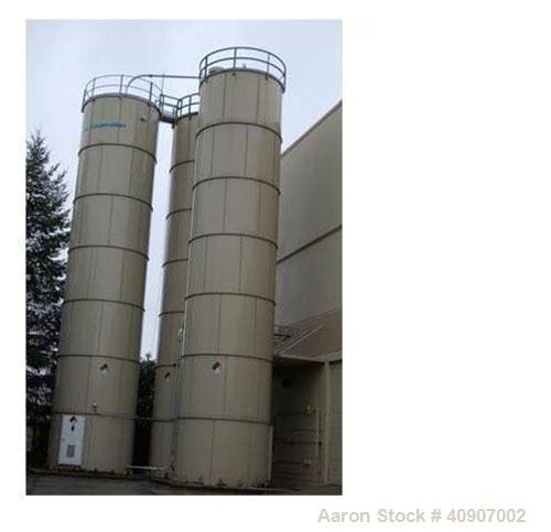 """Used-Dry Storage Silo, Bolted Carbon Steel Storage Silo. 12'4"""" diameter x 56' high, 45 degree bottom cone. Tank is skirt sup..."""