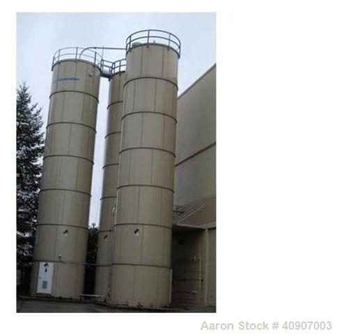 "Used-Dry Storage Silo, Bolted Carbon Steel Storage Silo. 12'4"" diameter x 56' high, 45 degree bottom cone. Tank is skirt sup..."