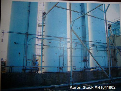 Used-Silo, carbon steel, blend silo. 8' diameter x 48' tall, capacity 1430 cubic feet. Maximum operating pressure 4.5 oz per...