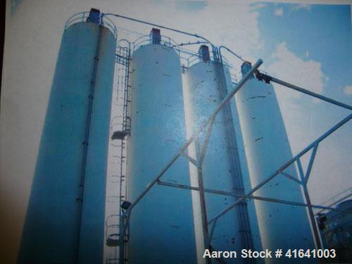 Used-Silo, carbon steel, blend silo. 8' diameter x 48' tall, capacity 1430 cubic feet. Maximum operating pressure 4.5 oz per...