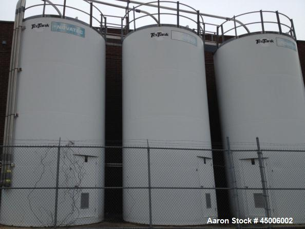 Used-Bulk Storage Welded Steel Dry Material Silo. Approximate 12' Diameter x 24' High. Approximate 20,305 Gallons(2715 Cu.Ft...