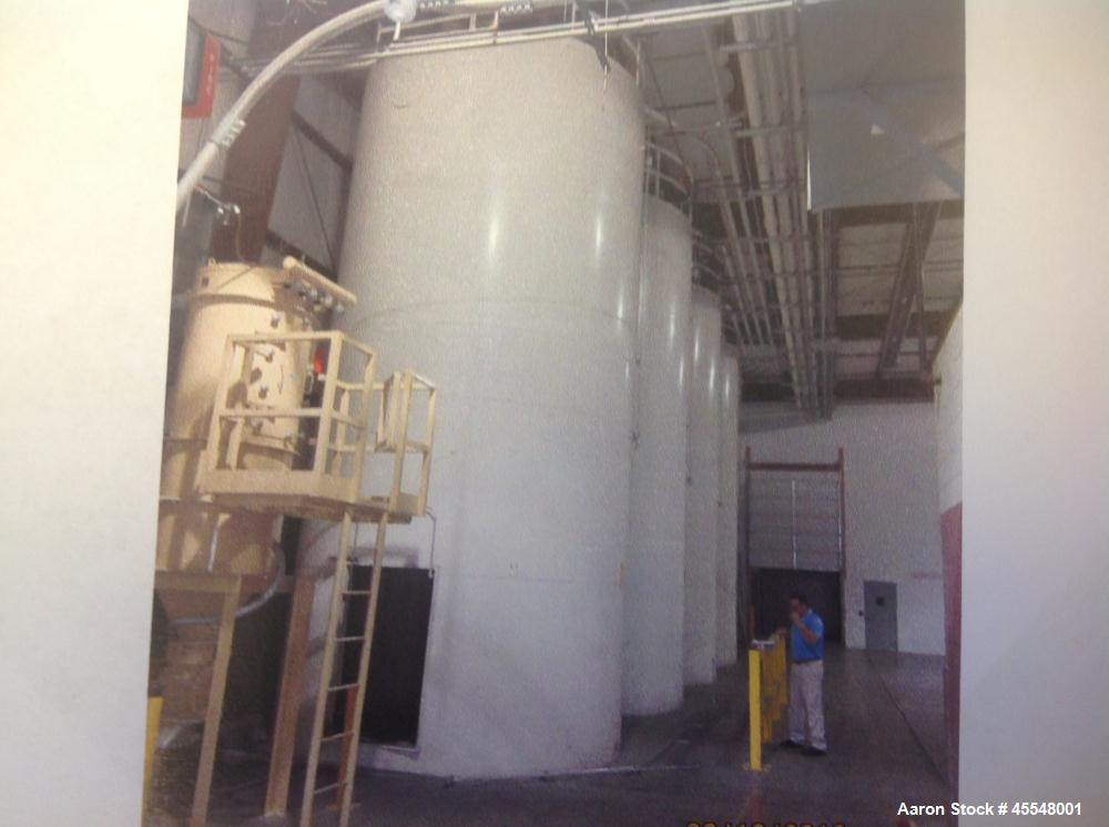 Used-Steel Tank, approximately 12' diameter x 30' tall.  Last used in plastics application.