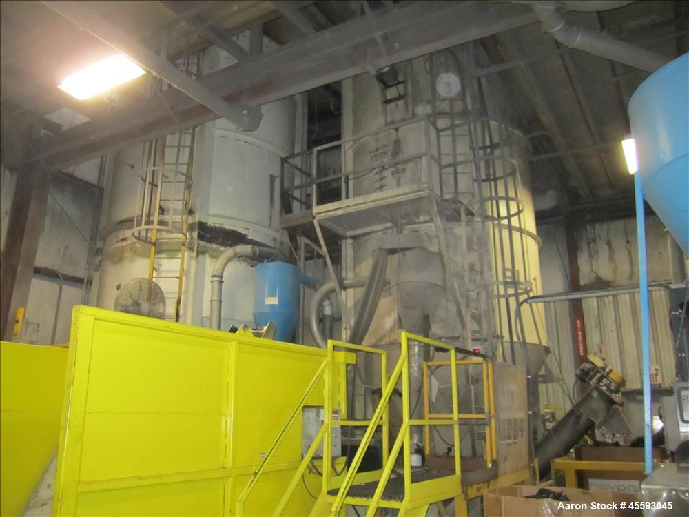 Used-40,000 lbs capacity Pellet storage silo complete with bin dumper, ACS blower, screw auger, load cells, floor scale, & r...