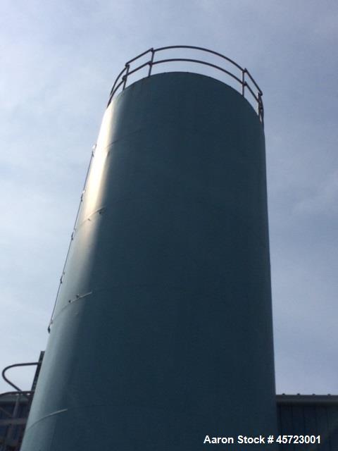 Used- Silo, 12 diameter x 40 high. Galvanized steel construction, good, clean condition. Minor rust around manhole vent hatc...