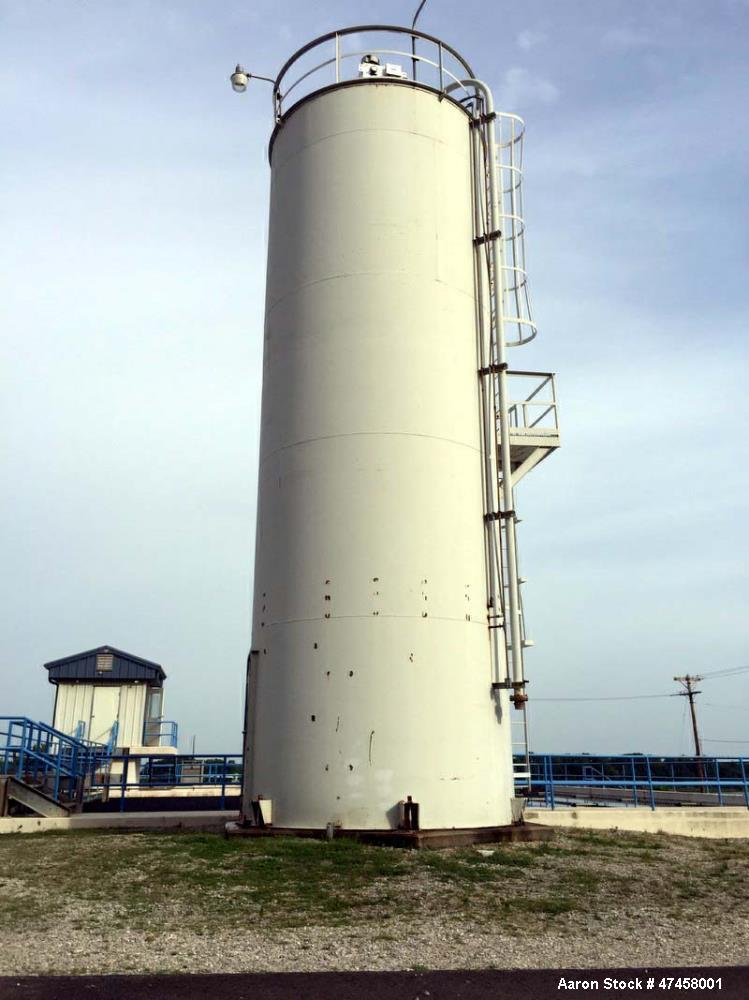 Used- Silo, 12 diameter x 38 high. Carbon steel, vertical. Welded.