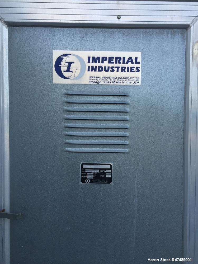 Used- Imperial Industries Silo. 5435 cubic feet, 12' x 60', insulated. Last used in PVC application.