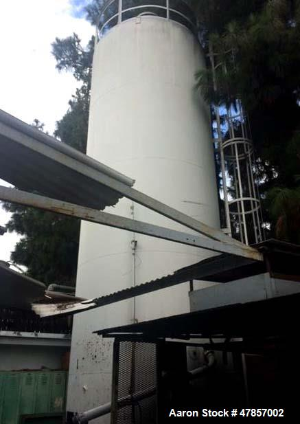 """Used- Silo, 30' Tall x 9'5"""" Diameter. Includes ladders and catwalks. Last used to store small plastic pellets."""