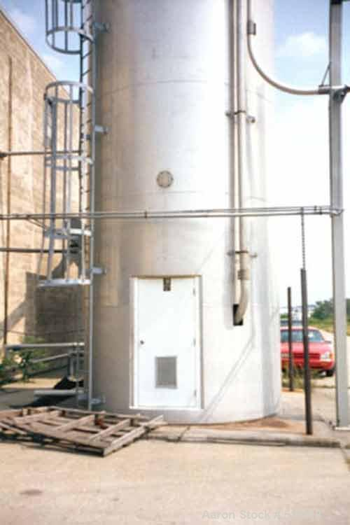 USED: 6420 cubic foot aluminum storage bin and blender: 12' diameter x78' high skirt supported. Aluminum construction silo d...