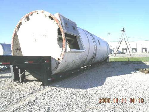 """USED: 2000 cubic foot lime silo with discharge, feeding and mixingpackage. 12'0"""" OD x overall height of 44'6"""". Straight side..."""