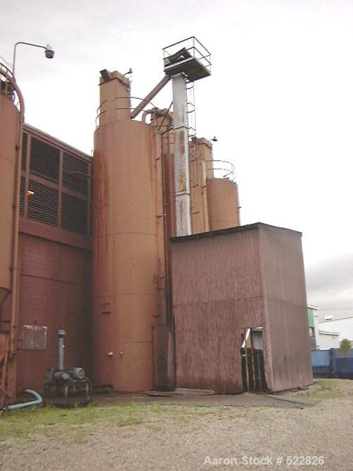 USED: 2200 cubic foot silo with skirt. 10' diameter x 24' straightside, 36' total height. Silo has a 6' bin activator with 8...