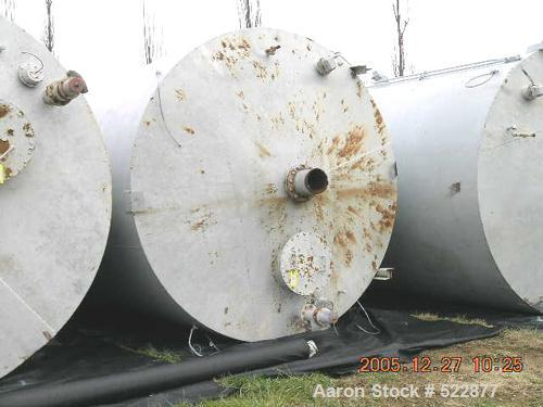 "USED: 2800 Cubic foot carbon steel silo. 12'0"" diameter x 21'6""straight side x 9'6"" high 60 degree cone. 24"" bolted manway. ..."
