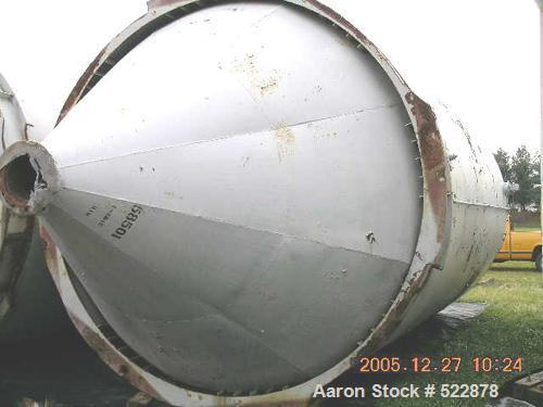 """USED: 2800 Cubic foot carbon steel silo. 12'0"""" diameter x 21'6""""straight side x 9'6"""" high 60 degree cone. 24"""" bolted manway. ..."""
