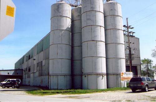 USED: Silo, carbon steel construction, bolted. 12' diameter x 45' tall.