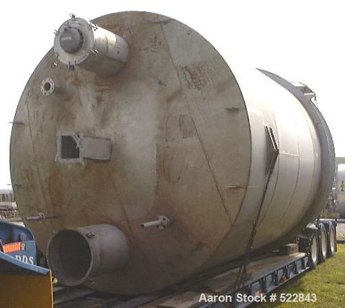 """USED: 2500 Cubic foot stainless steel bin. 12'0"""" diameter x 20'0""""straight side x 10'7"""" cone height, model 60-52-12. Complete..."""