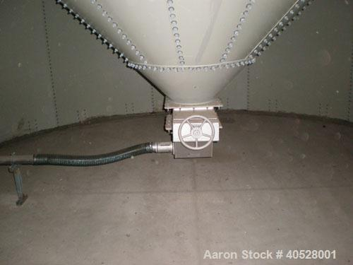 Used- Columbian Tech / PAL Webb silo, 4,274 cubic feet, carbon steel, bolted design. 18' diameter x 24' high. Cone bottom, p...
