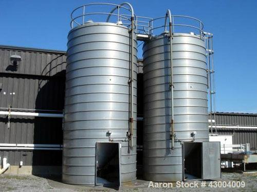 """Used- Conair Pellet Silo, 1709 Cubic Feet, Aluminum Construction. Approximately 11' 6"""" diameter x 24' straight side, cone bo..."""