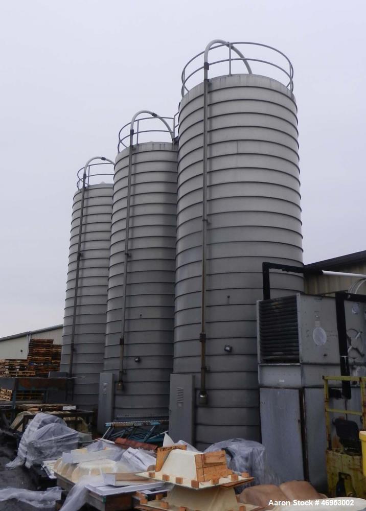 "Unused- Conair Silo, 11-6"" diameter x 32' inside height Aluminum Spiral Silo. Approximate volume is 2640 ft3. 45-70 cone, in..."