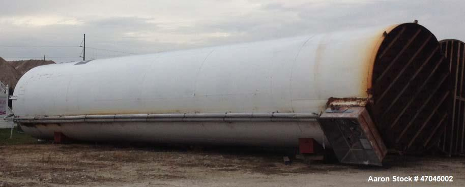 "Used- Crepaco Silo, 50,000 gallon Stainless steel inner, 6684 Cubic Feet. Insulated and steel outer jacket. 142"" od x 70' ta..."