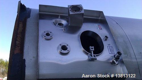 Used-Feldmeier 50,000 Gallon Stainless Steel Silo. Includes 3 blade agitator and tank door only, no motor. Tank has minor su...