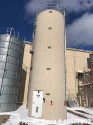 "Used- Columbian Tectank Bulk Material Silo. 3030 cubic foot. 12' diameter x 37' 10"" . Designed for plastic pellets, tall. Yr..."