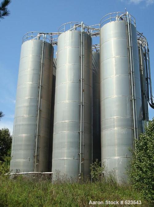 "USED: Silo, model 40-45. 12'0"" diameter x 48'0"" with eave. Skirt pressure 2.0 OSI, vacuum 0.5 OSI. Approximate 4000 cubic fo..."