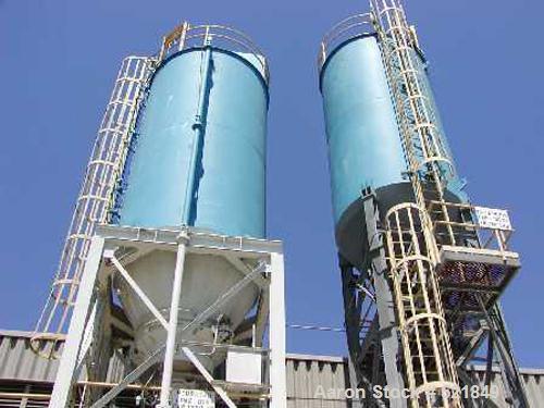 USED: Passavant silo, 1750 cu ft capacity, carbon steel. 17,750 lbs.