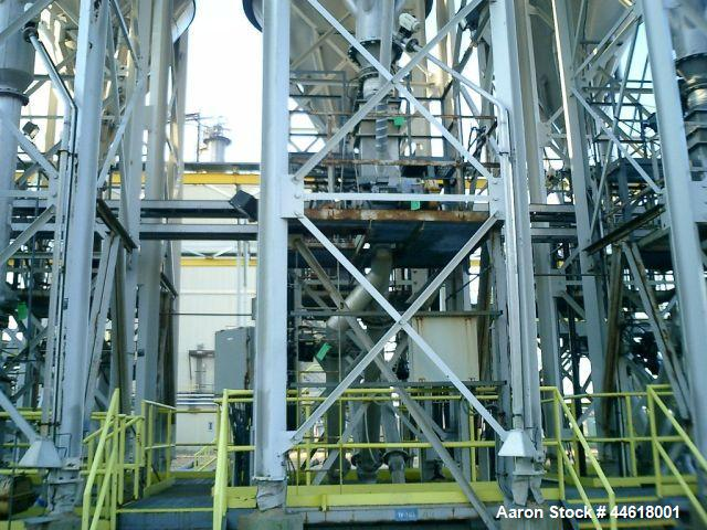 Used-Pneuveyor Vertical Polymer Blending Silo, Model TK-3401 1-6, Aluminum construction, 2653 cubic foot capacity. 10 foot d...