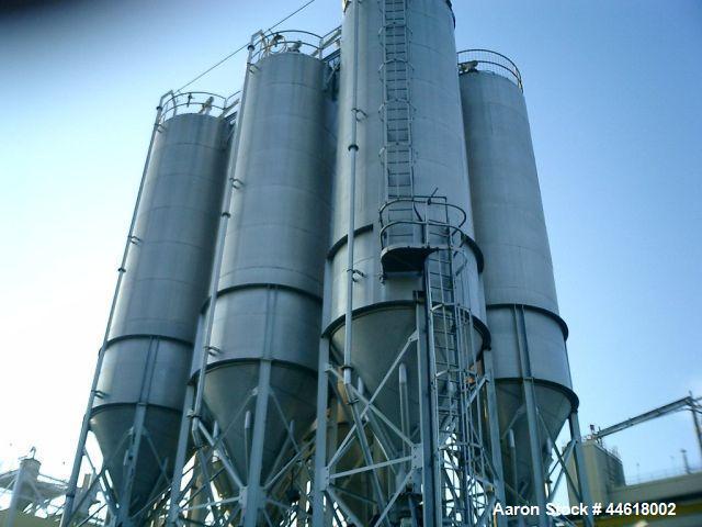 Used-Pneuveyor Vertical Polymer Blending Silo, Model TK-3401 1-6, Aluminum construction, 2653 cubic foot capacity. 10 foot d...