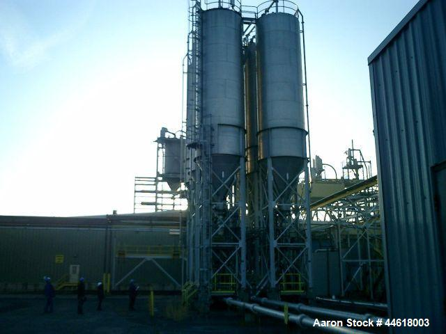 Used-Pneuveyor Vertical Polymer Blending Silo, Model TK-3401 1-6, Stainless Steel construction, 2653 cubic foot capacity. 10...