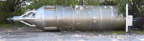"""Used- Semco Silo, Approximately 935 Cubic Feet, Aluminum. 7'6"""" diameter x 33'6"""" high, 21' straight wall. 20,000 pound capaci..."""