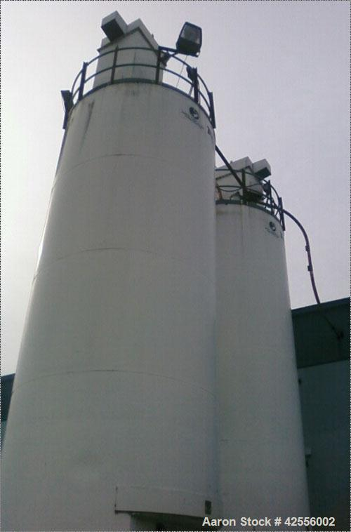 Used-Granulated Silica Tower by Tec Tank, manufactured by Veyor Corp in 1993. 10' Diameter, 30' tall, 1630 cubic foot capaci...
