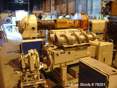 "USED- Mazzoni High Efficiency Soap Plodder/Extruder, Model M-400. Plodder:  stainless steel contact parts, 22-3/4"" wide x 21..."