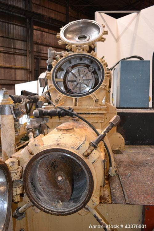 "Used- Meccaniche Moderne Duplex Vacuum Plodder. 1st Stage is a 10"" diameter x 36"" long 304 stainless steel refiner screw wit..."