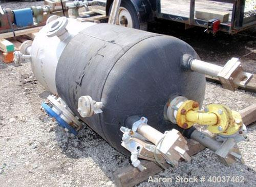 "Used- Acme Industrial Pressure Tank, 130 Gallon, Hastelloy C276, Vertical. 28"" diameter x 48"" straight side, dished top and ..."