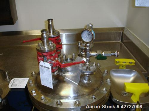 """Used- Expert Industries Reciever, 30 Gallon, Hastelloy C276. 18"""" Diameter x 24"""" straight side, removable dish top, dish bott..."""