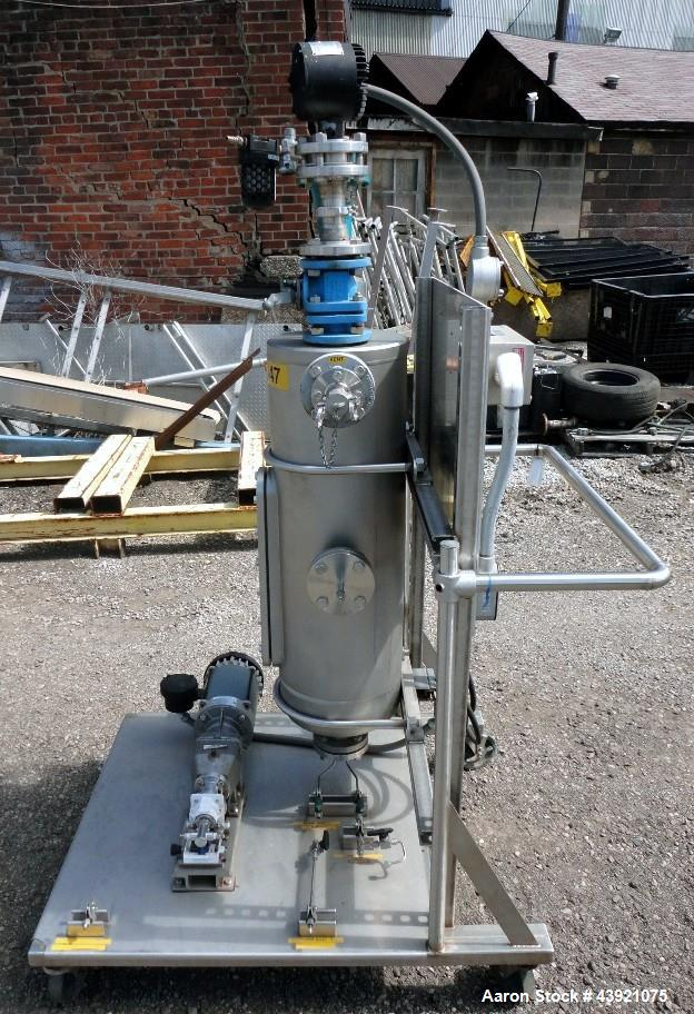 "Used- Midway Machine Tech Tank, 65 Liter (18 Gallon), Hastelloy C276. Approximately 12"" diameter x 36"" straight side, flat w..."