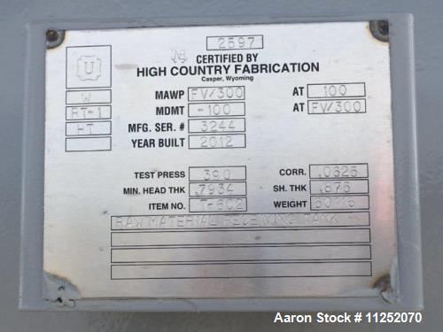 Unused- 10,591 Gallon Tank.
