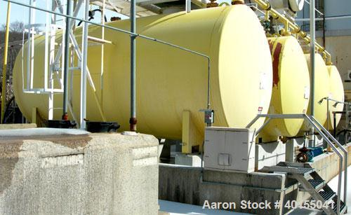 Used:  Carbon steel/rubber lined hydrachloric acid storage tank, approximate 10,000 gallon, horizontal. Approximate 10' diam...