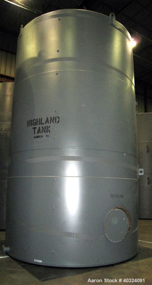 Unused: Highland tank, 14,382 gallon, carbon steel, vertical. Approximately 12' diameter x 17' straight side, slight coned t...