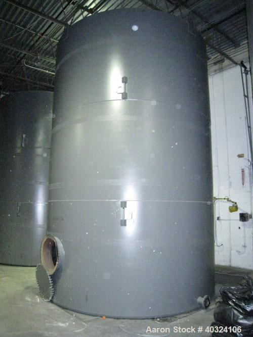 Unused: Highland tank, 15,225 gallon, carbon steel, vertical. Approximately 12' diameter x 18' straight side, slight coned t...