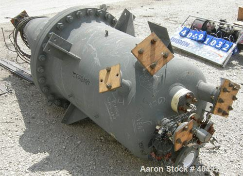"Used-Missouri Boiler pressure tank, 145 gallon, carbon steel, vertical. Approximately 29"" diameter x 48"" straight side x 54""..."