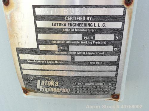 Used-Lakota Engineering approximately 10,000 gallon horizontal pressure tank, carbon steel (SA-516-70N). 800 psi, temp rated...
