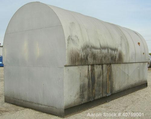 """Used- Tri-City Fabricating Tank, 10,000 gallon, carbon steel, horizontal. Approximately 120"""" diameter x 220"""" straight side, ..."""