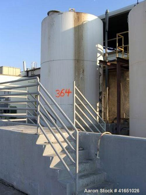 Used-CARBON STEEL TANK, APPROX. 5000-GALLON W/ RELATED VALVES AND PIPING