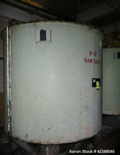 """Used- Mild Steel Storage Tank  Approx. 90"""" Dia. X 80""""H With Side Bottom Discharge (No Agitator)"""