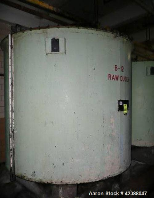 "Used- Mild Steel Storage Tank Approx. 90"" Dia. X 80""H With Side Bottom Discharge (No Agitator)"