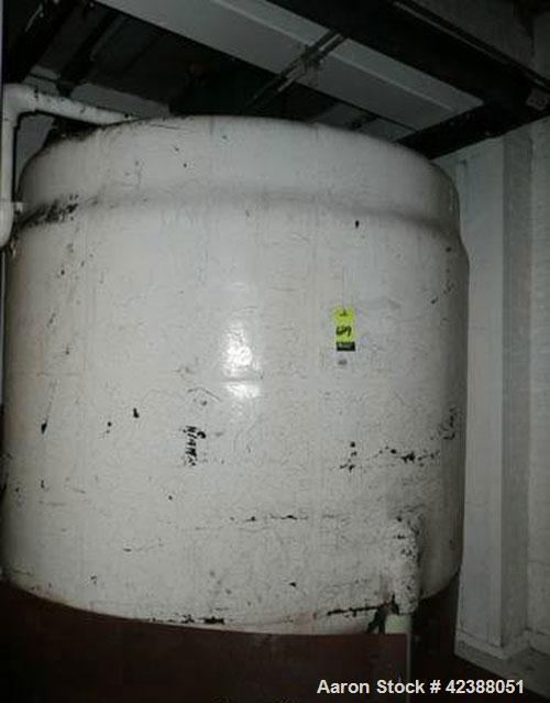 "Used- Mild Steel Jacketed Storage Tank Approx. 93"" Dia. X 84""H With Lightnin Agitator"